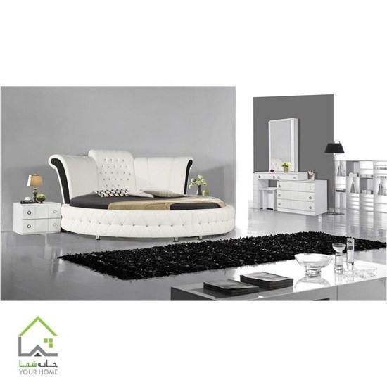 تصویر تخت خواب دو نفره صدف