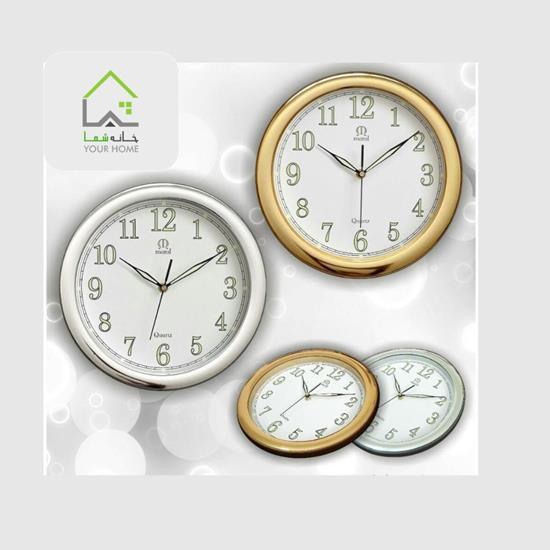تصویر ساعت دیواری مارال قطر 30 طلایی