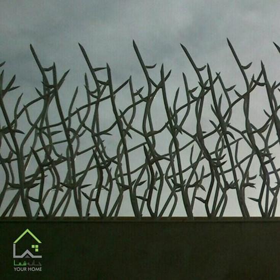 تصویر نرده دیوار شاخ گوزنی ارتفاع 70 سانتیمتر