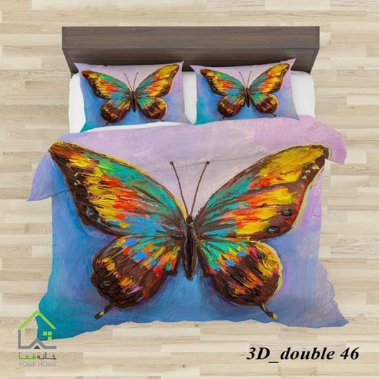 تصویر روتختی تک نفره  4 تکه سه بعدی پروانه رنگی