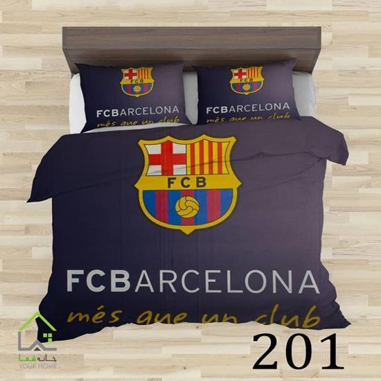 تصویر روتختی تک نفره  و لحاف و رو بالشتی بارسلونا