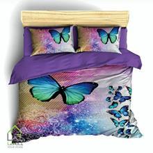 تصویر روتختی دو نفره طرح پروانه رنگی