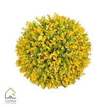 گل مصنوعی توپی مدل رزماری زرد سایز بزرگ