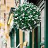 گل مصنوعی توپی مدل رزماری سفید