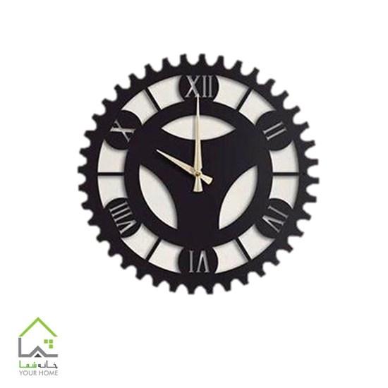 تصویر ساعت دیواری مشکی پلکسی