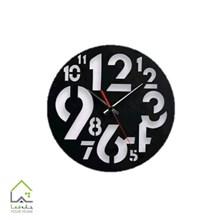تصویر ساعت دیواری پلکسی طرح اعداد